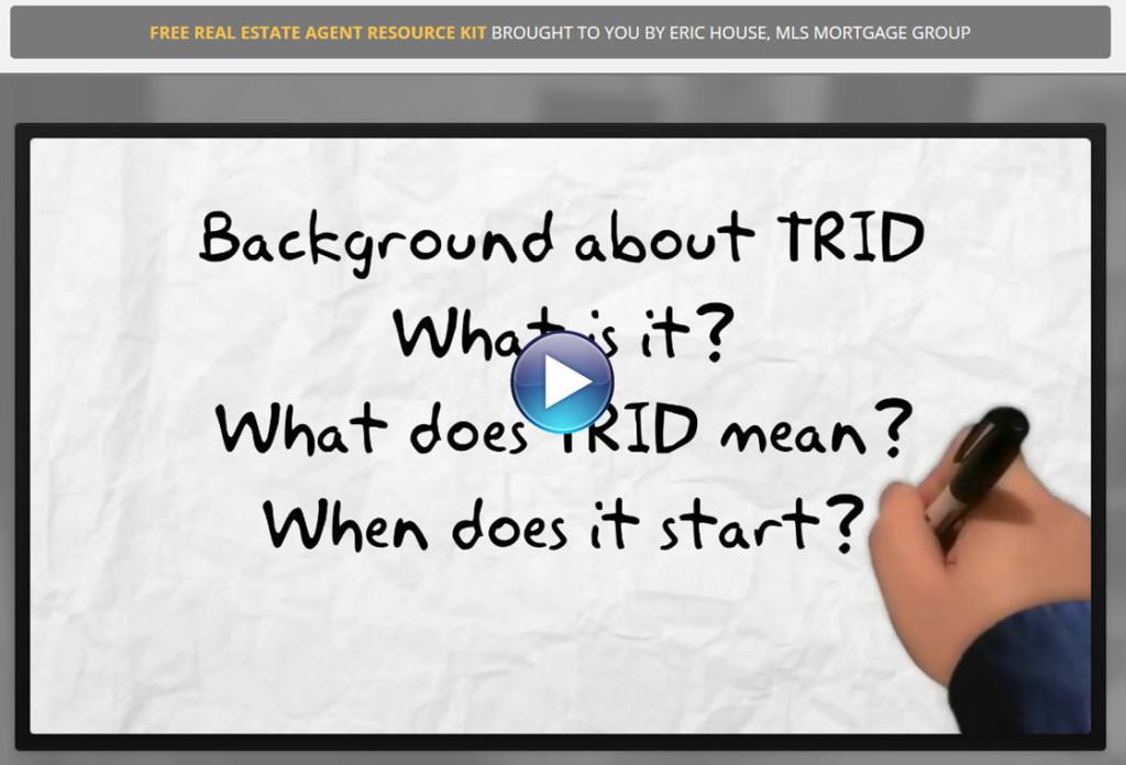 TRID TILA RESPA Integrated Disclosure Video
