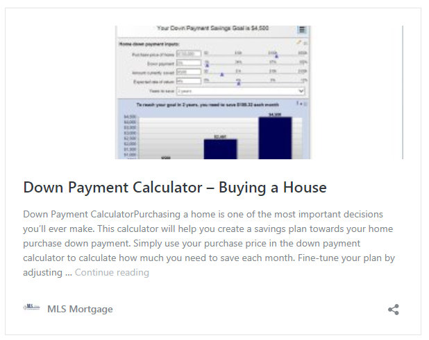 Down Payment Calculator - How much is a downpayment on a house