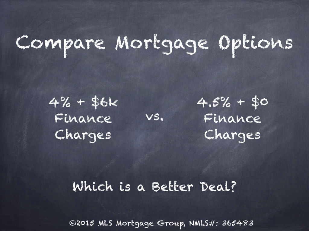 Compare Mortgage Options Difference between Mortgage Interest Rate and APR