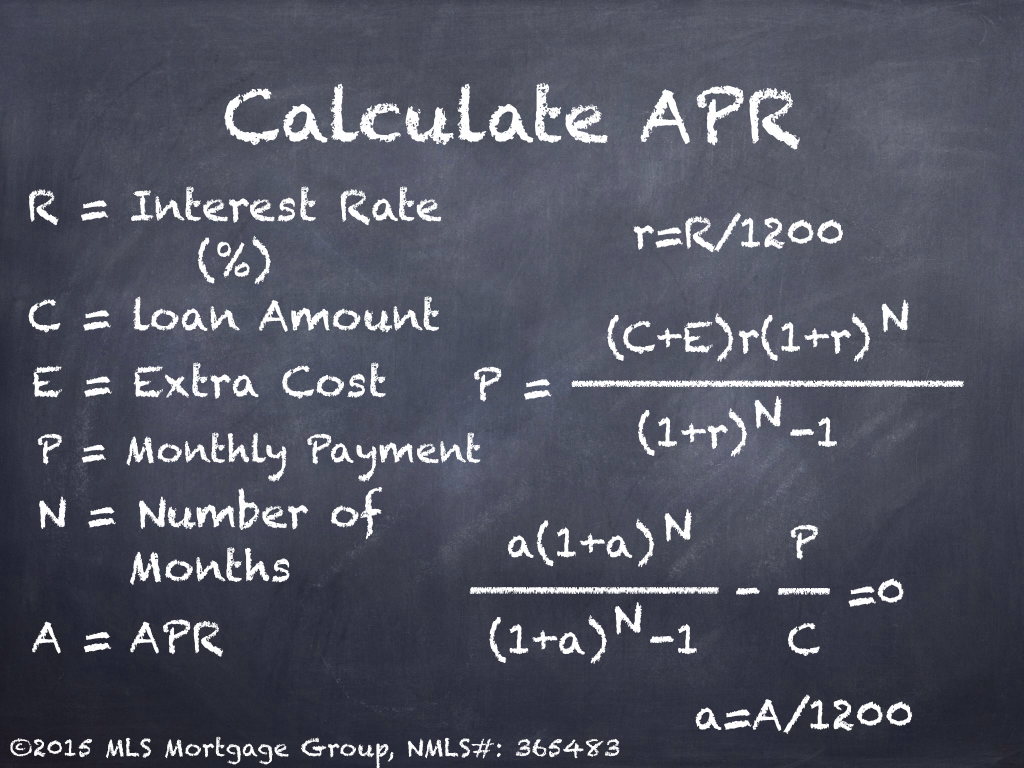 Formula to Calculate APR rate Formula for Calculating APR