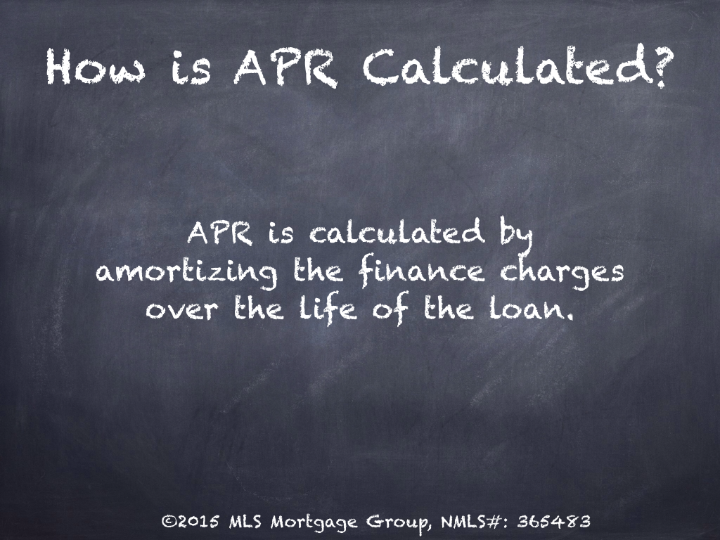 How does APR work Annual Percentage Rate Mortgage