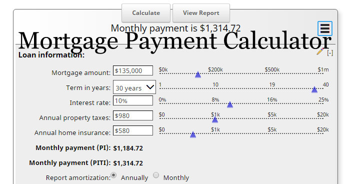 mortgage calculator with taxes and insurance piti
